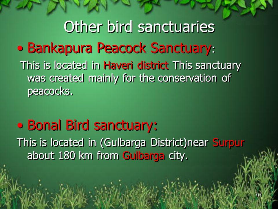 Other bird sanctuaries