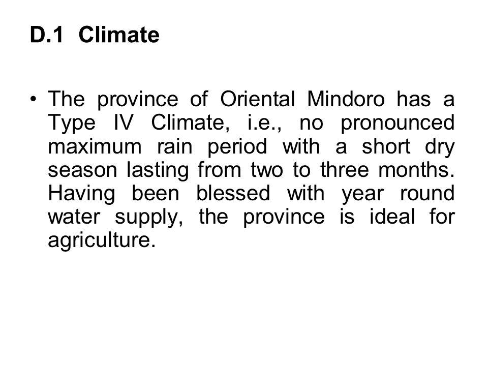 D.1 Climate