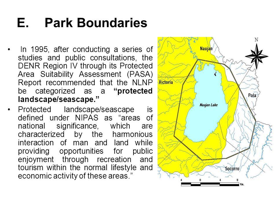 E. Park Boundaries