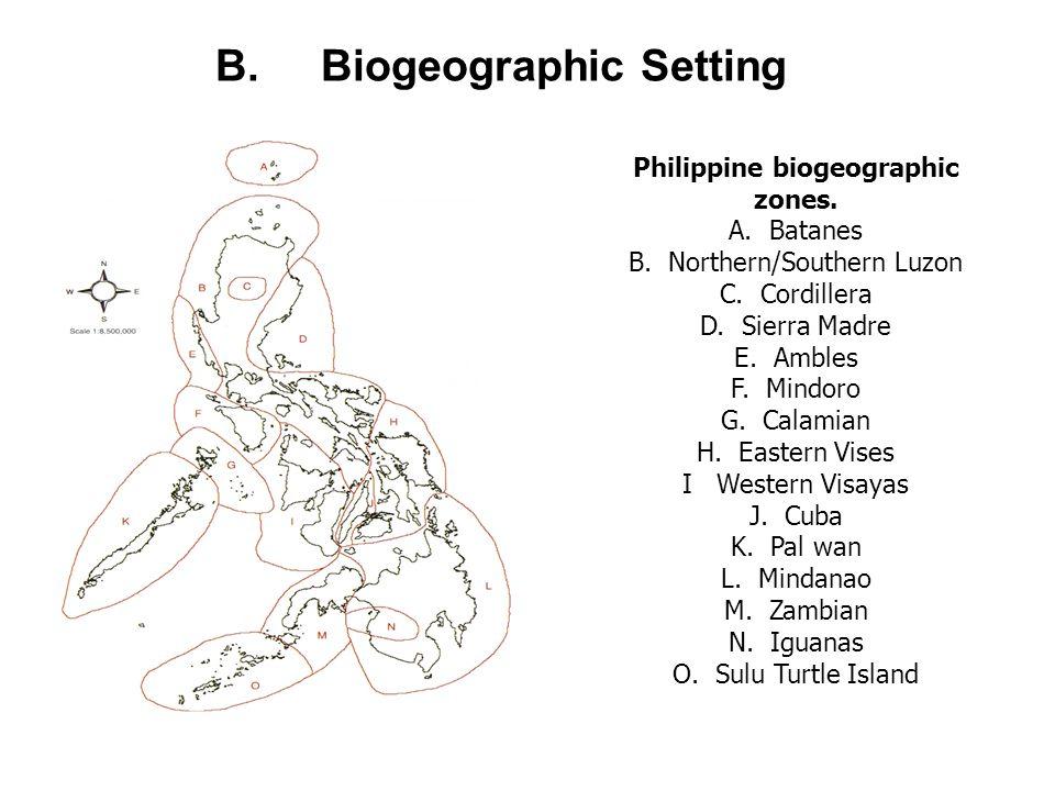 B. Biogeographic Setting