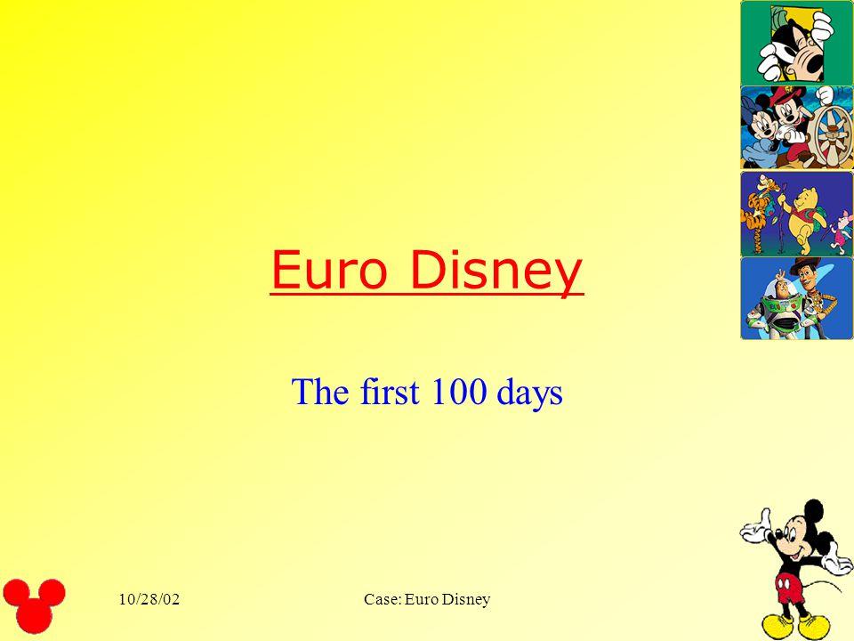 Euro Disney The first 100 days 10/28/02 Case: Euro Disney