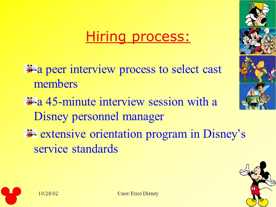 Hiring process: a peer interview process to select cast members
