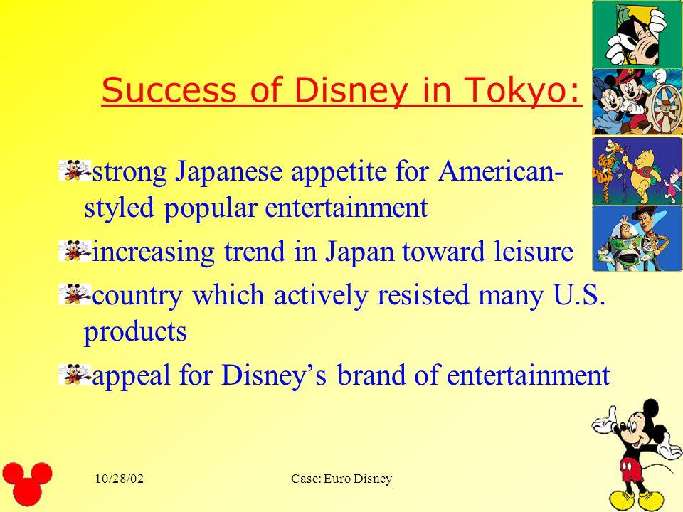 Success of Disney in Tokyo: