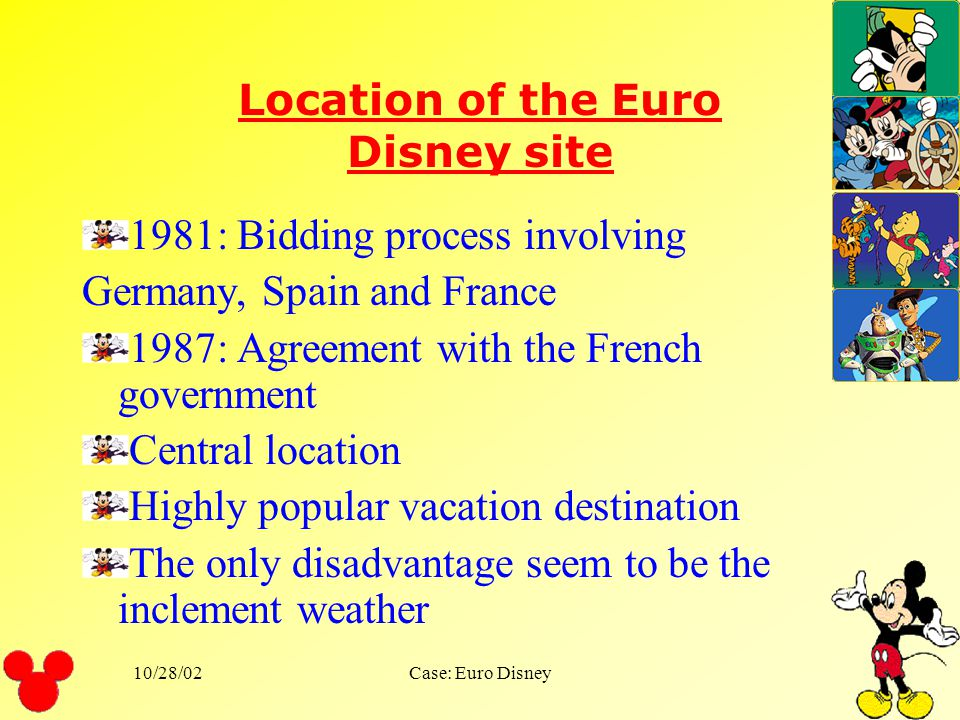 Location of the Euro Disney site