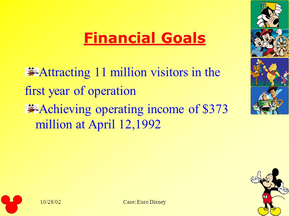 Financial Goals Attracting 11 million visitors in the