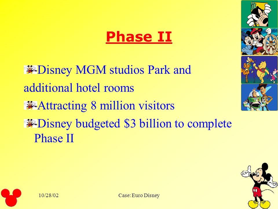 Phase II Disney MGM studios Park and additional hotel rooms