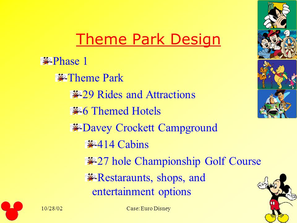 Theme Park Design Phase 1 Theme Park 29 Rides and Attractions