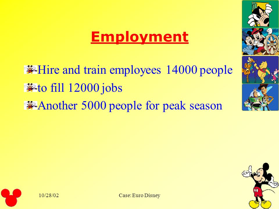 Employment Hire and train employees 14000 people to fill 12000 jobs
