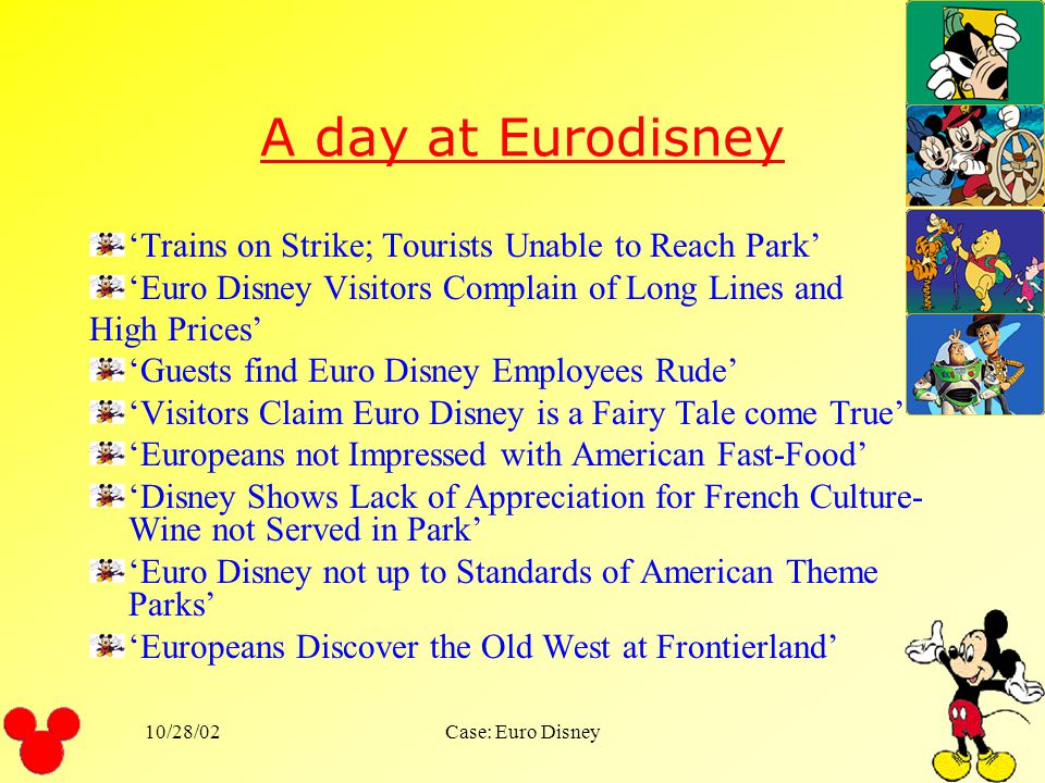 A day at Eurodisney 'Trains on Strike; Tourists Unable to Reach Park'