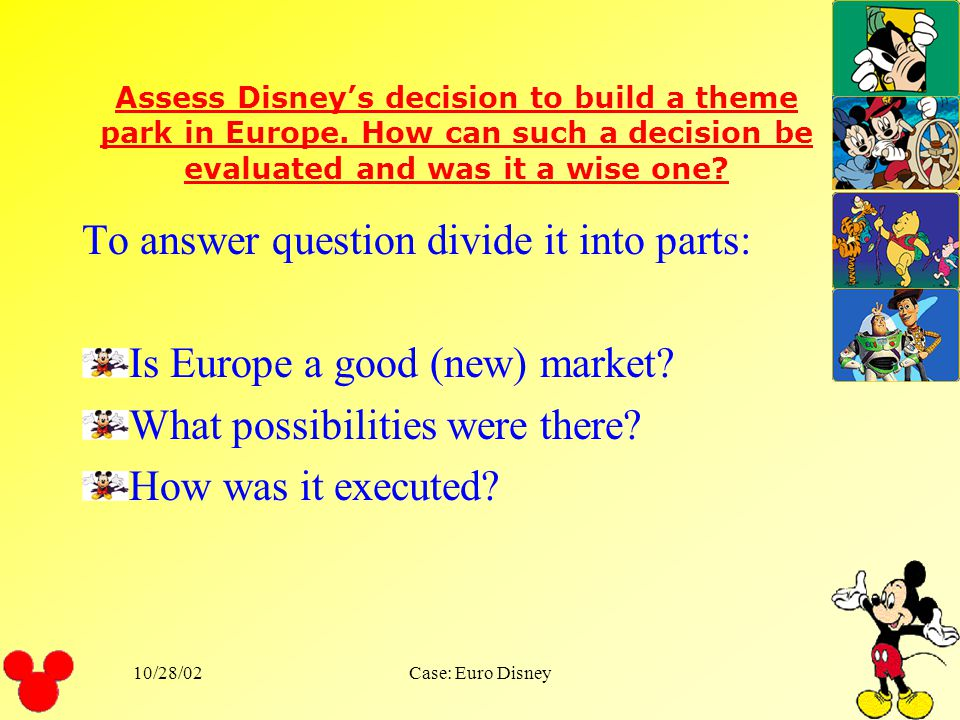 To answer question divide it into parts: