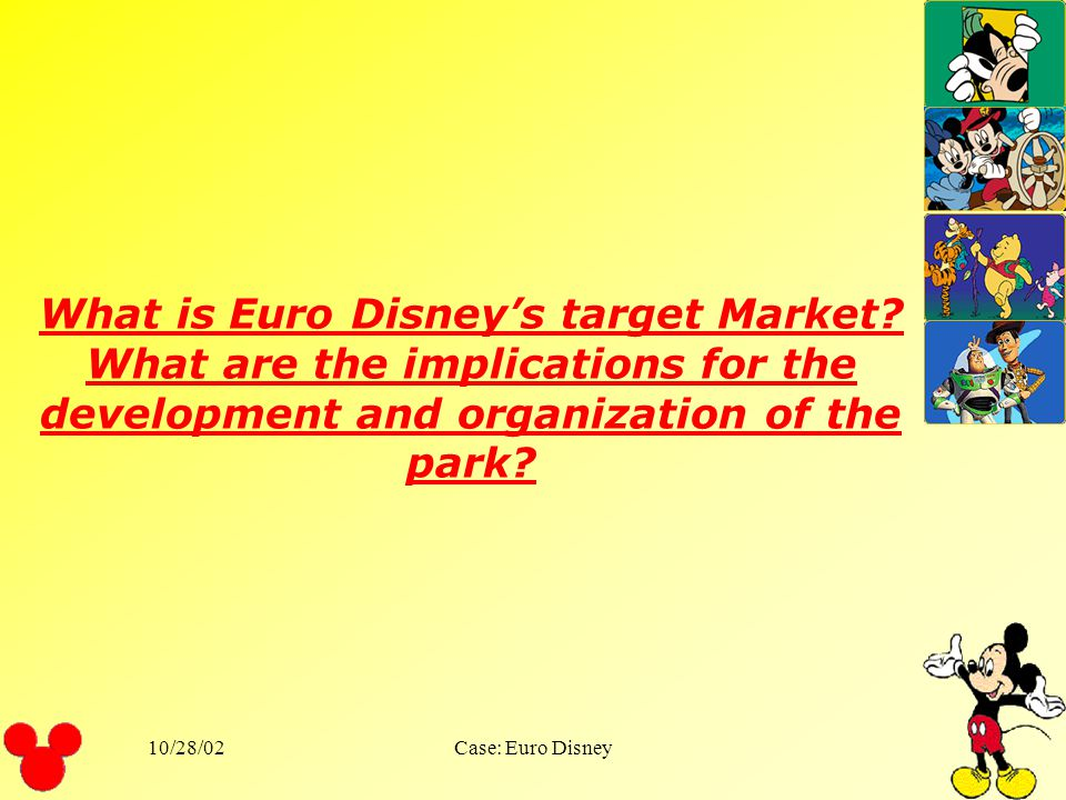 What is Euro Disney's target Market