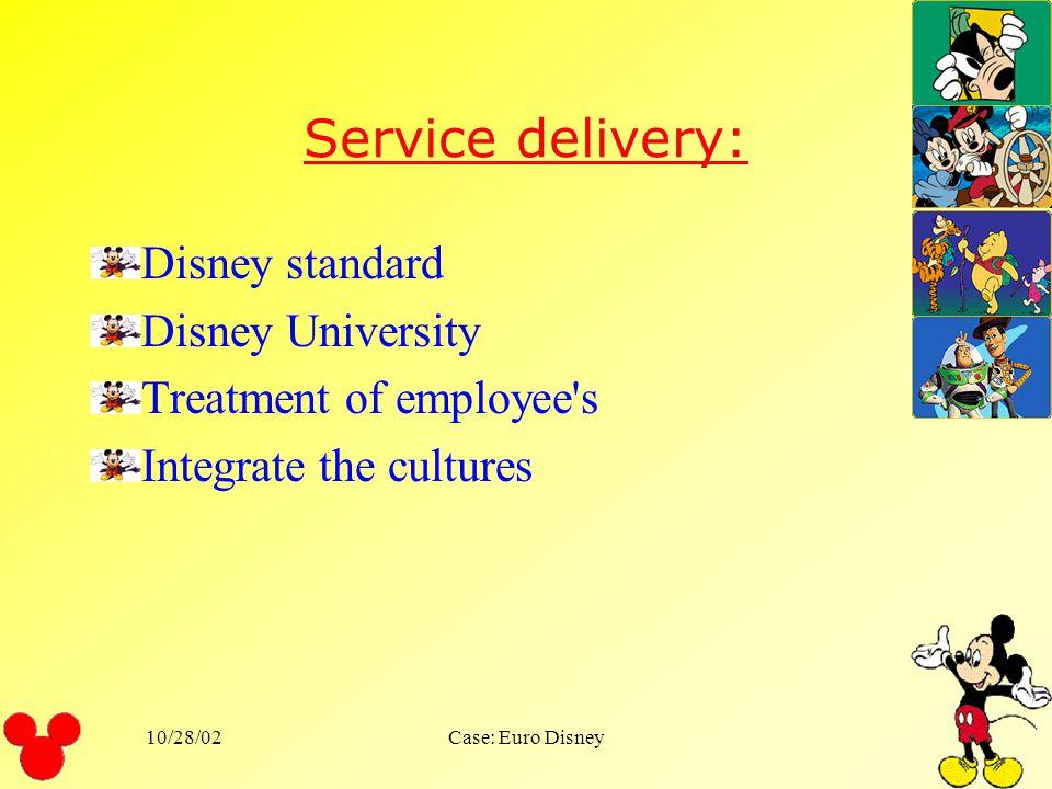 Service delivery: Disney standard Disney University