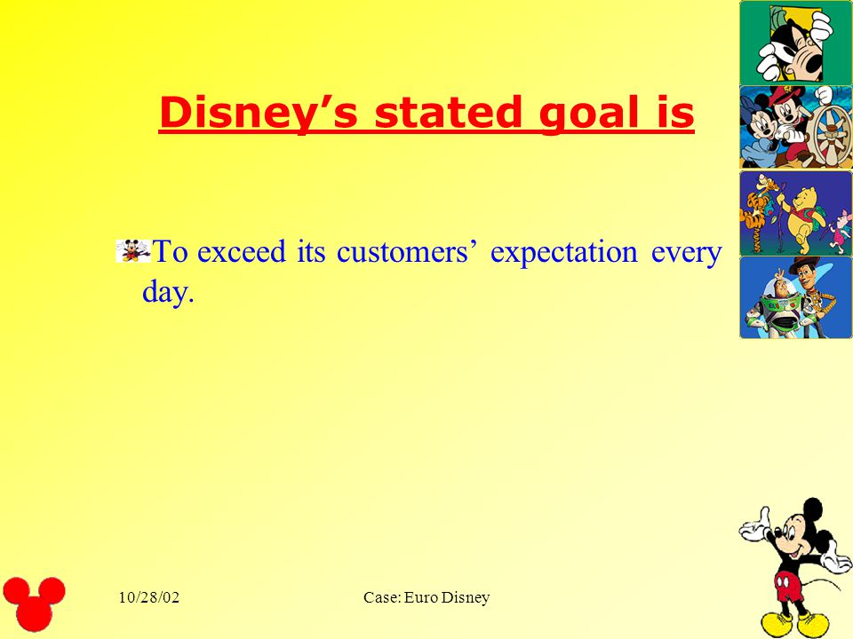 Disney's stated goal is