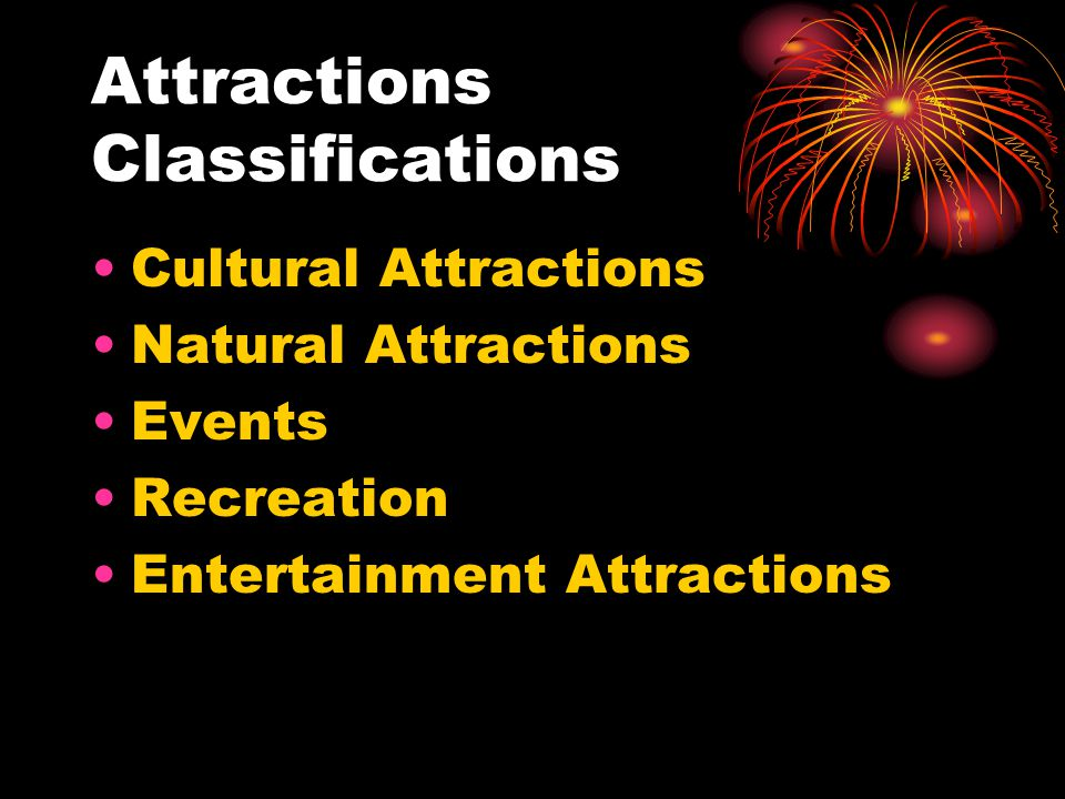Attractions Classifications