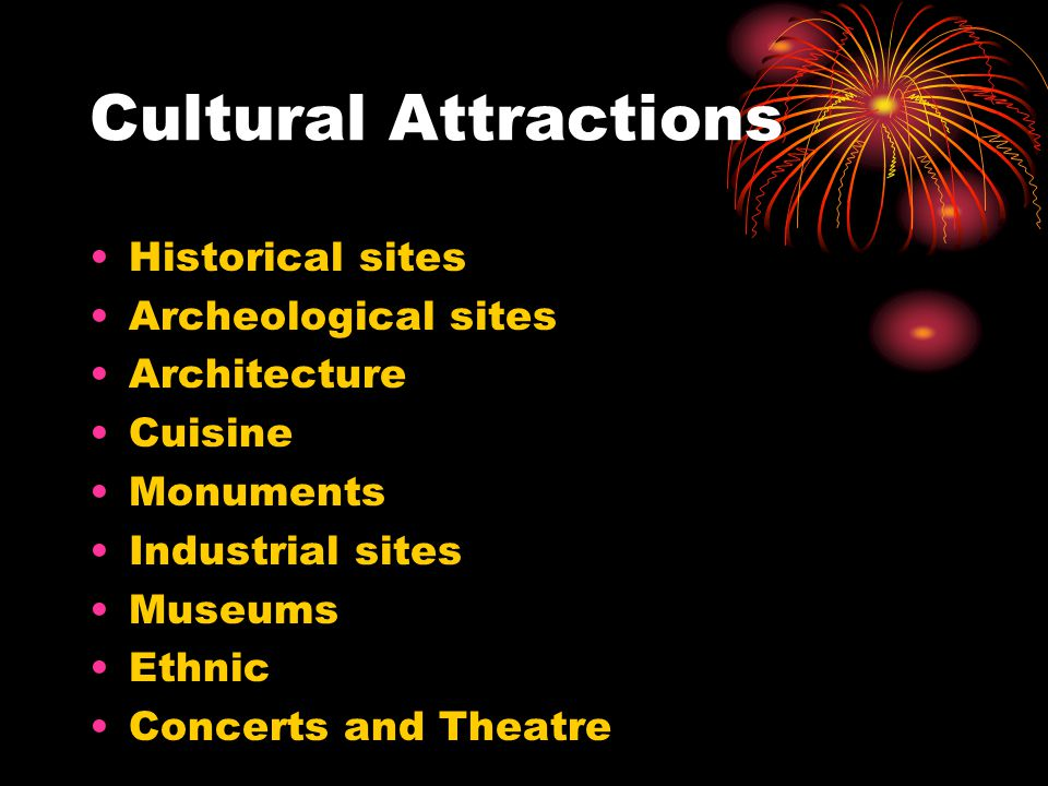 Cultural Attractions Historical sites Archeological sites Architecture