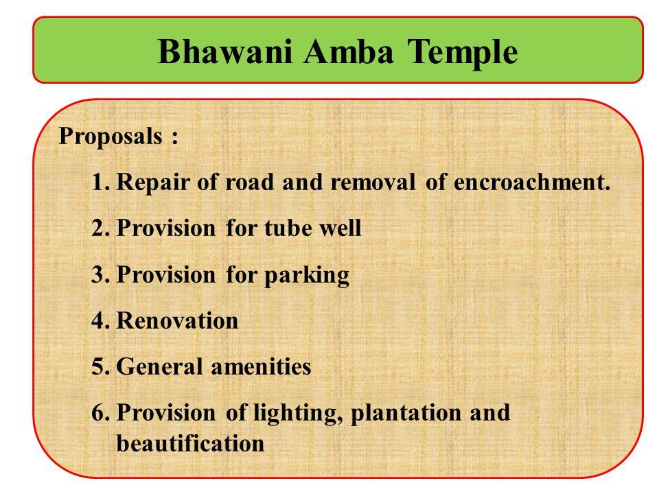 Bhawani Amba Temple Proposals :