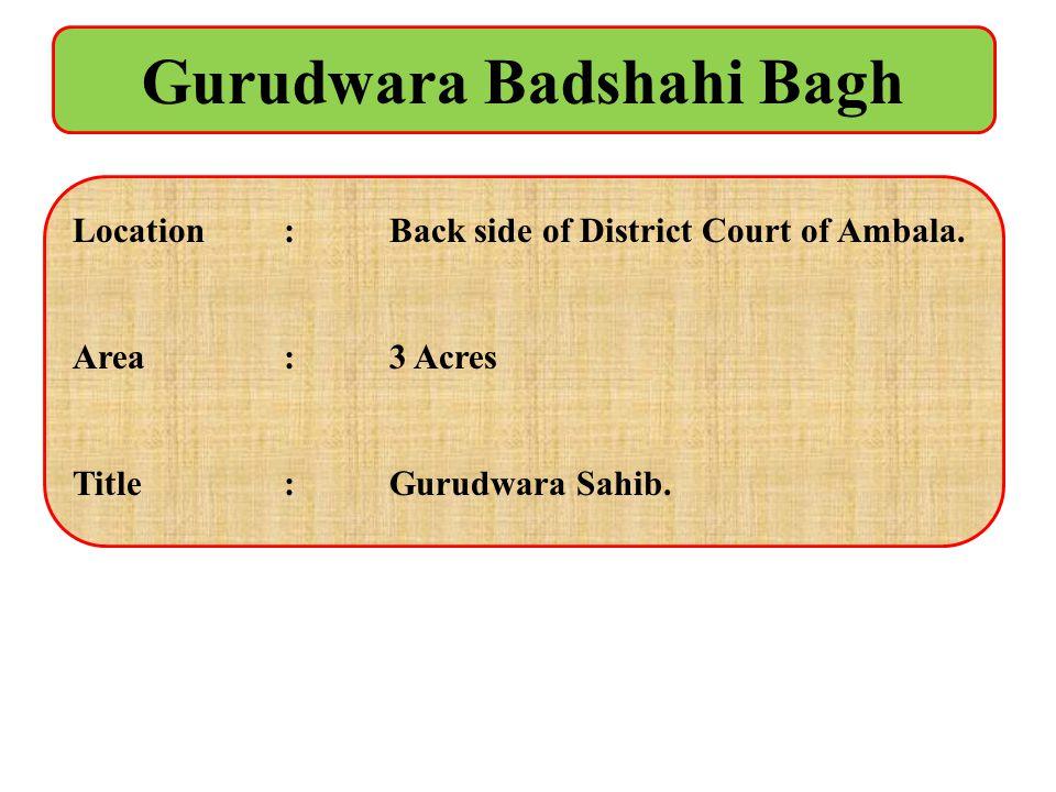 Gurudwara Badshahi Bagh