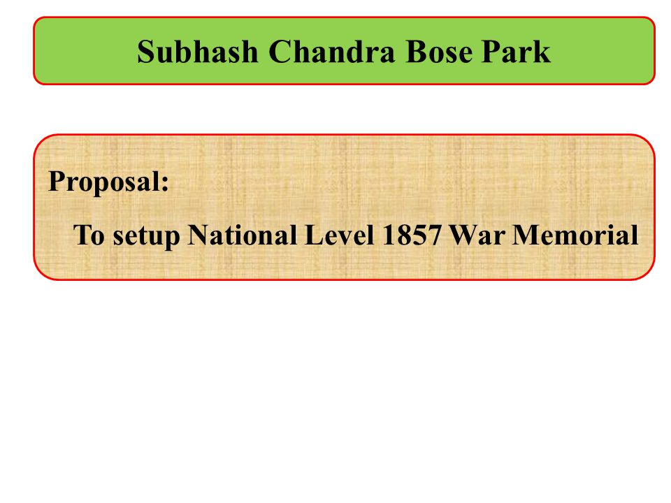 Subhash Chandra Bose Park