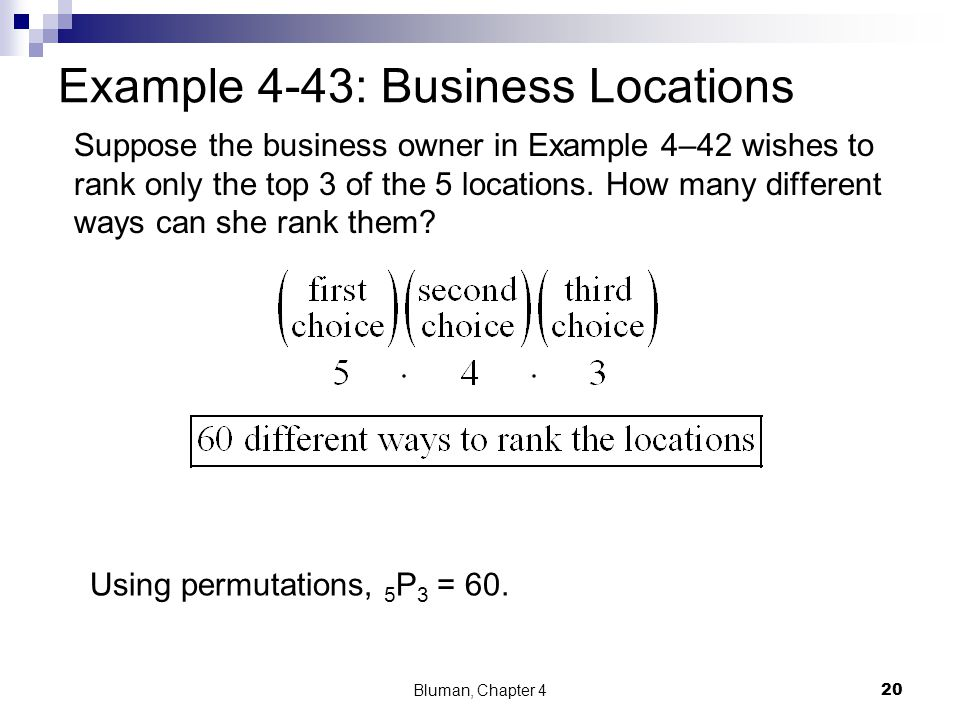 Example 4-43: Business Locations