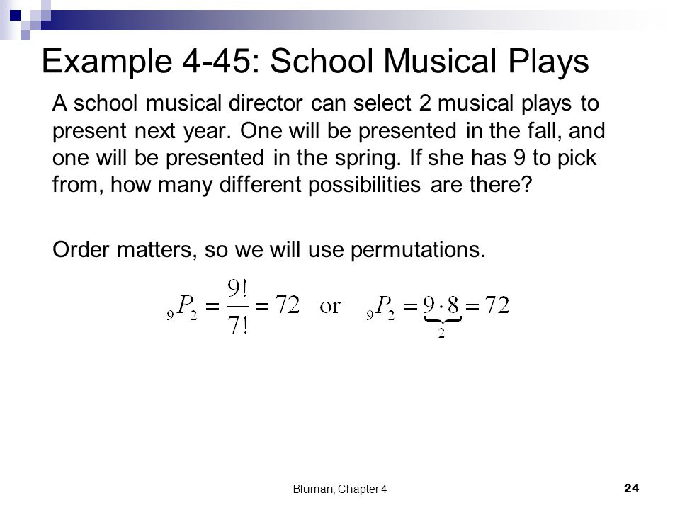 Example 4-45: School Musical Plays