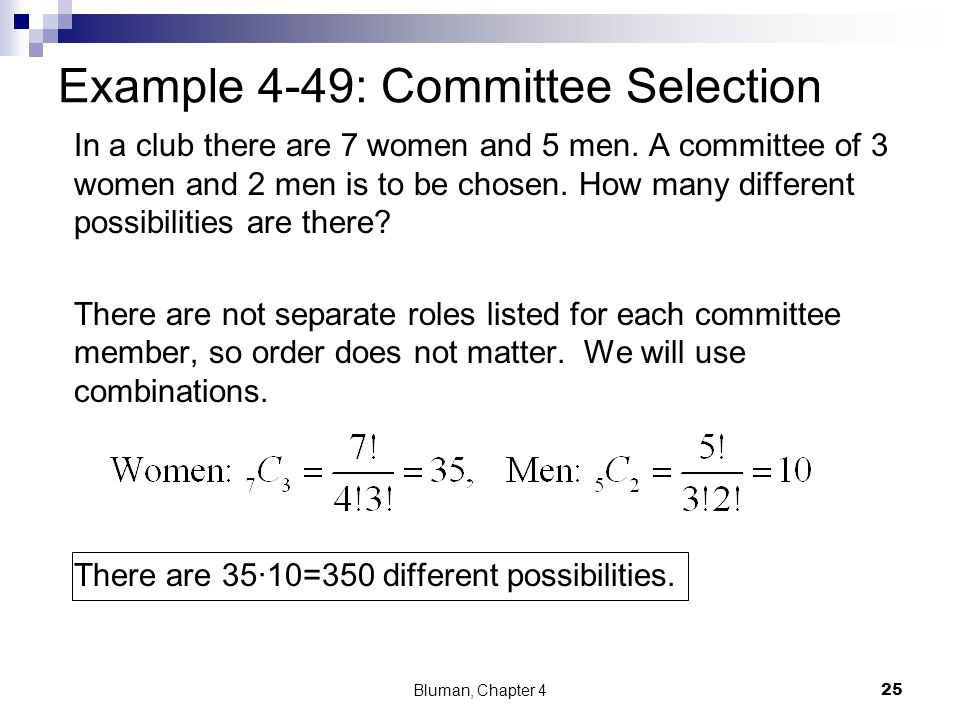 Example 4-49: Committee Selection