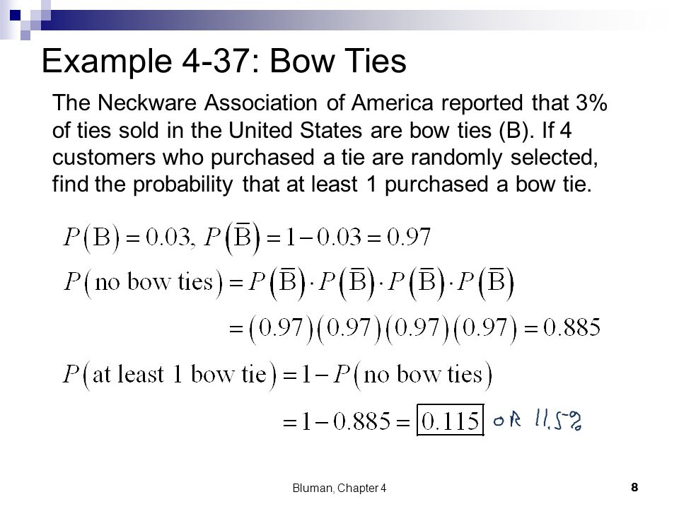 Example 4-37: Bow Ties
