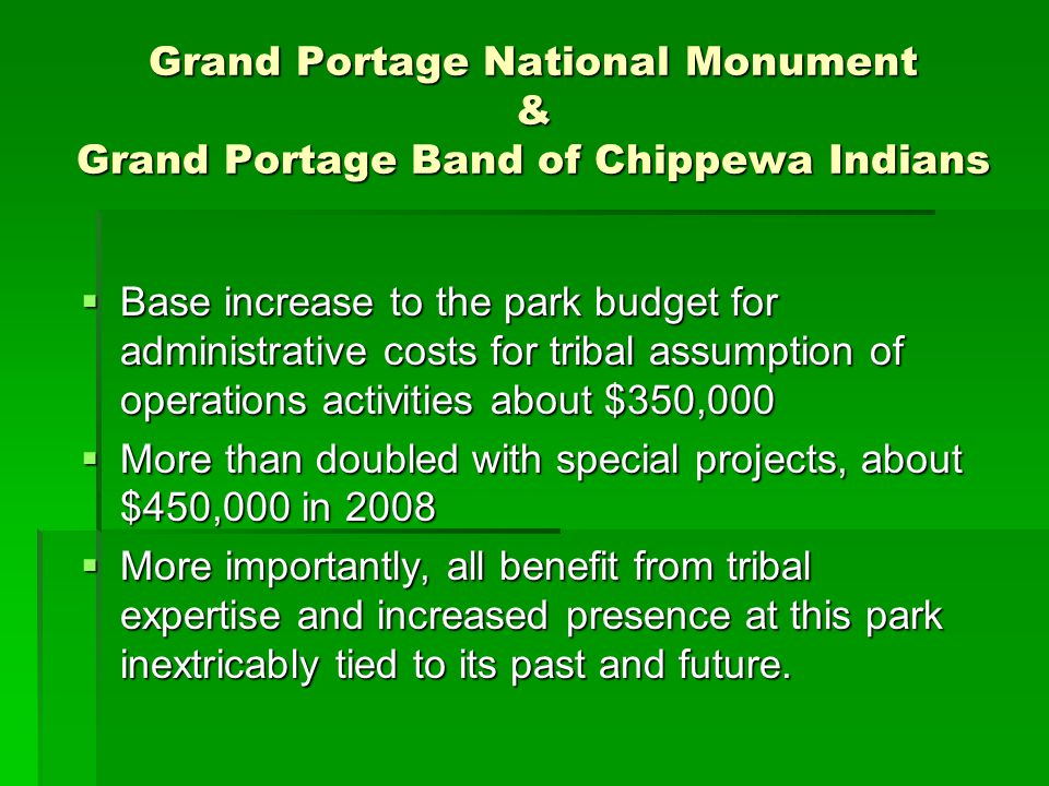 Grand Portage National Monument & Grand Portage Band of Chippewa Indians
