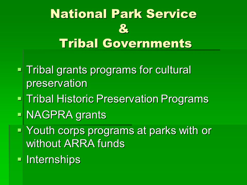 National Park Service & Tribal Governments
