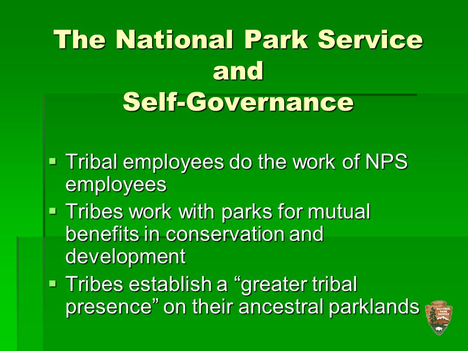 The National Park Service and Self-Governance