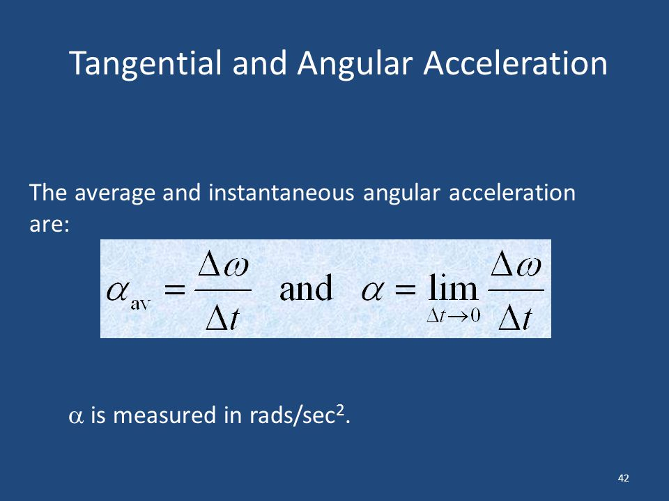 Tangential and Angular Acceleration