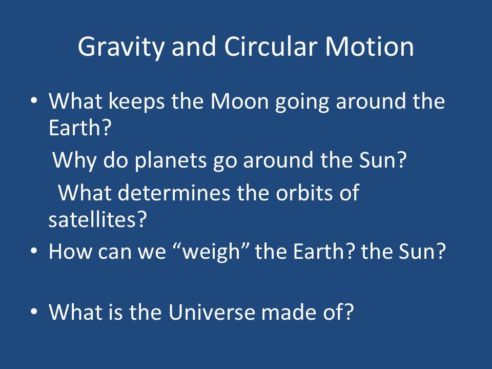 Gravity and Circular Motion