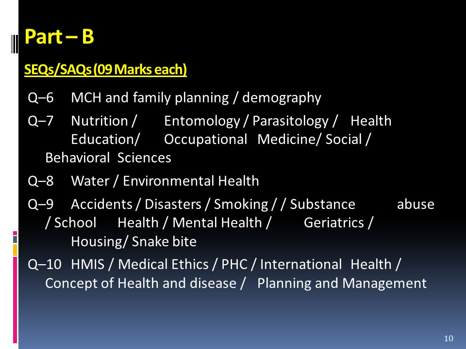 Part – B SEQs/SAQs (09 Marks each)