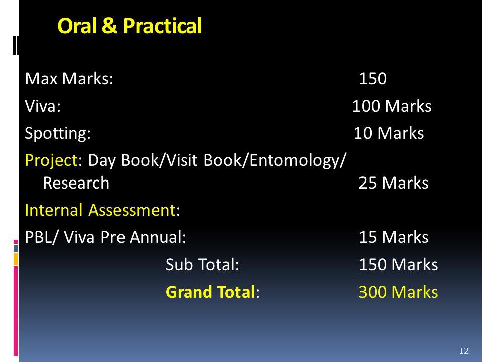 Oral & Practical