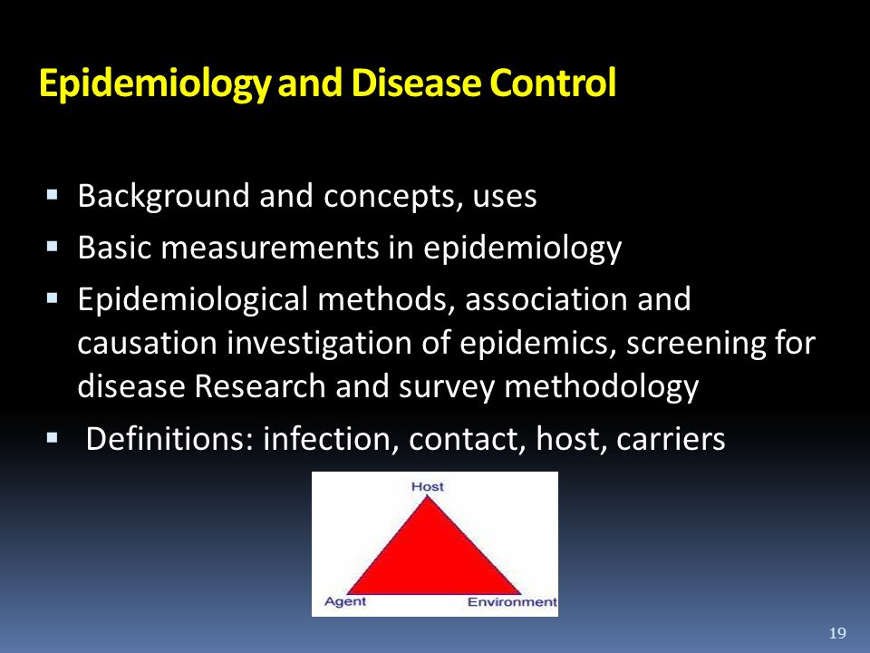 Epidemiology and Disease Control