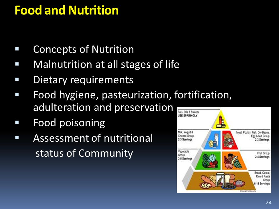 Food and Nutrition Concepts of Nutrition