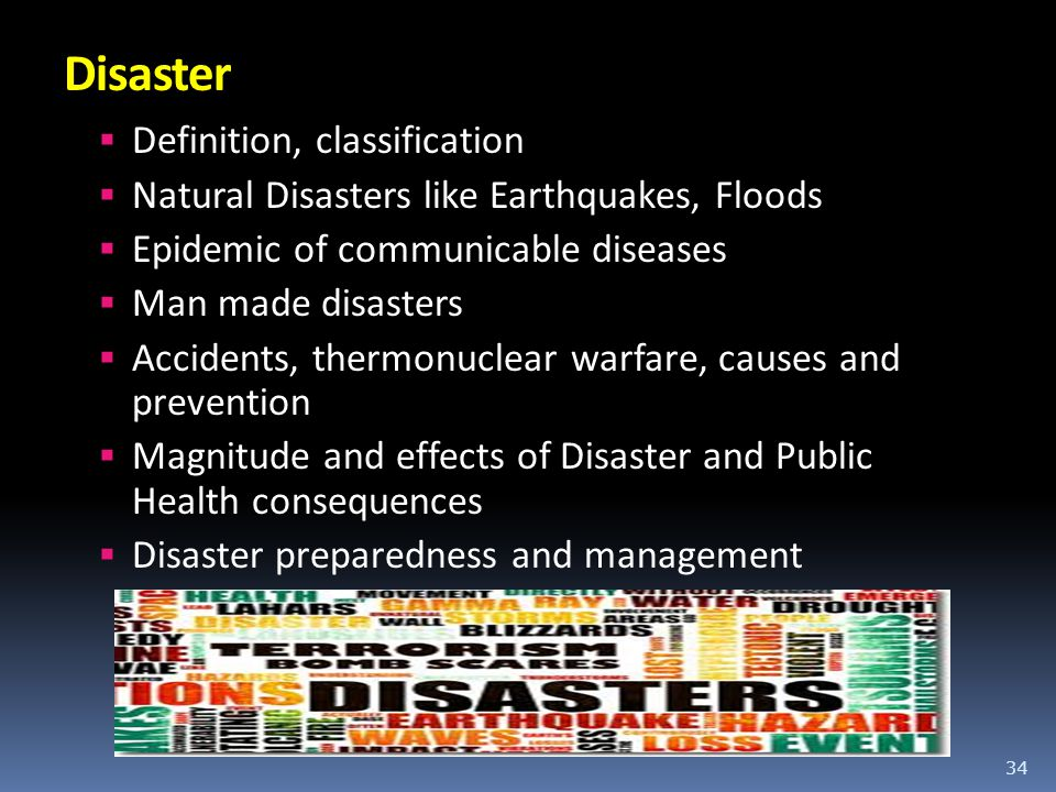 Disaster Definition, classification