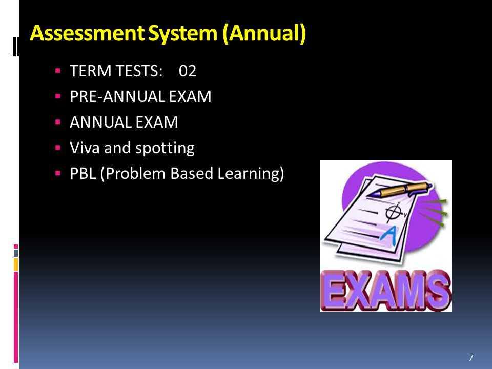 Assessment System (Annual)