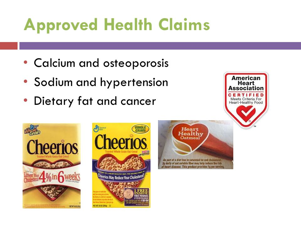 Approved Health Claims