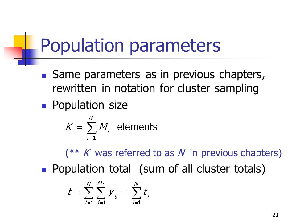 Population parameters