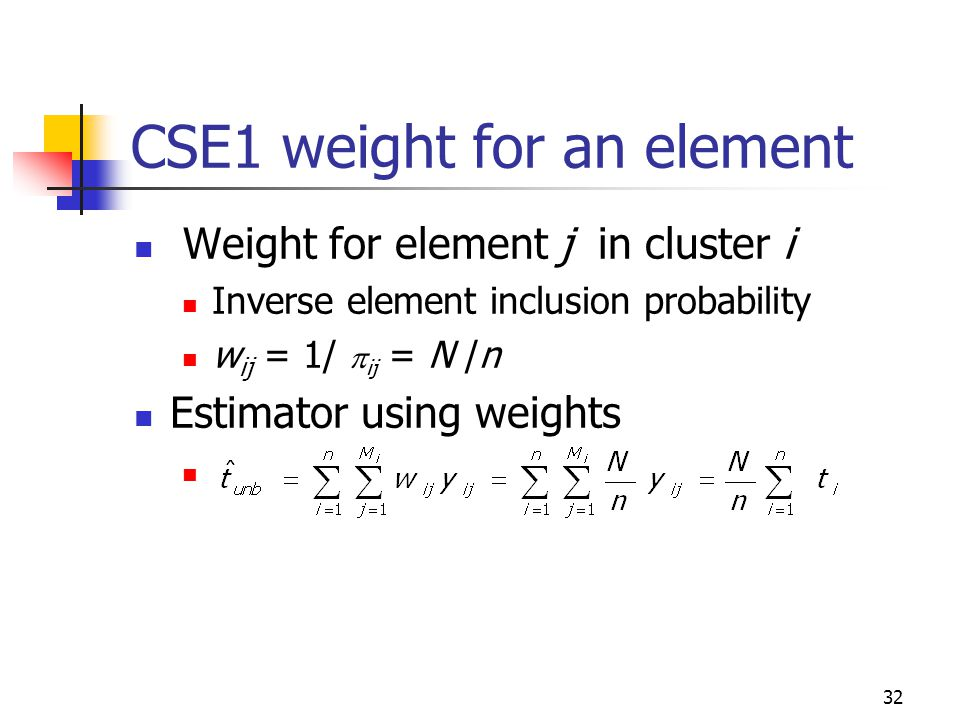 CSE1 weight for an element