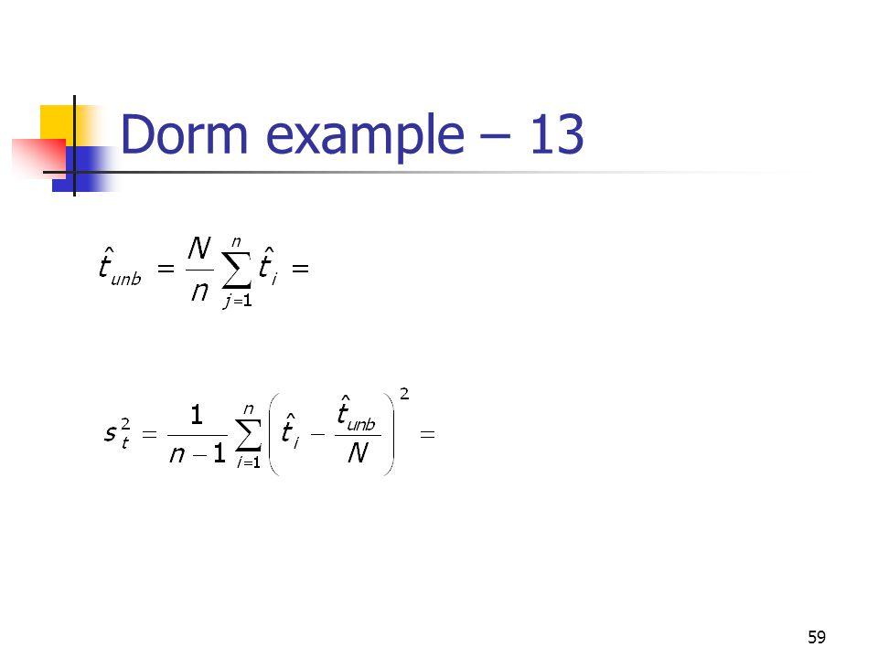 Dorm example – 13