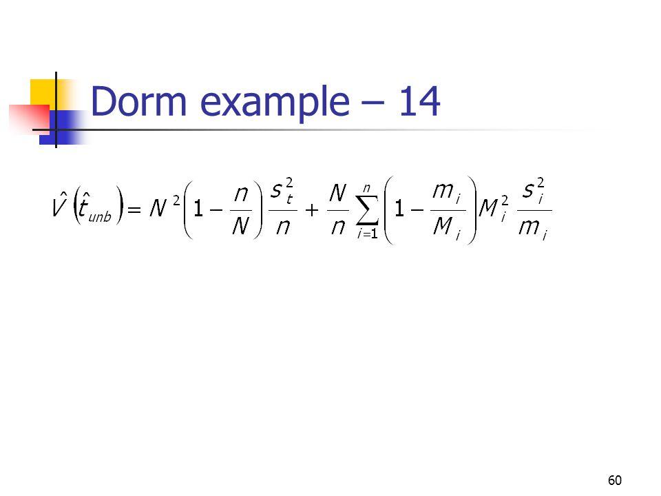 Dorm example – 14