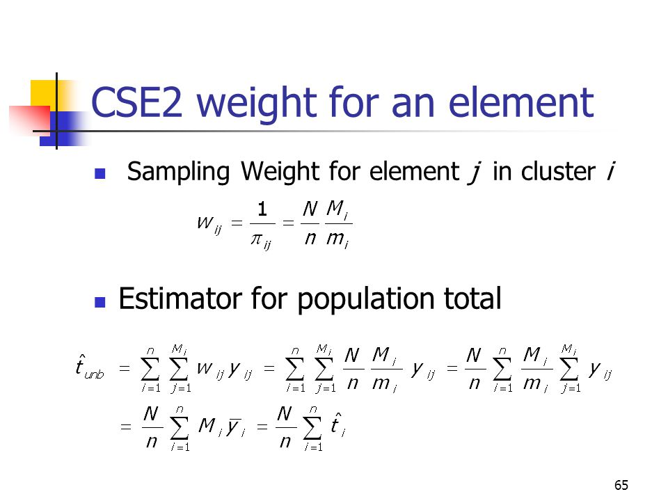 CSE2 weight for an element