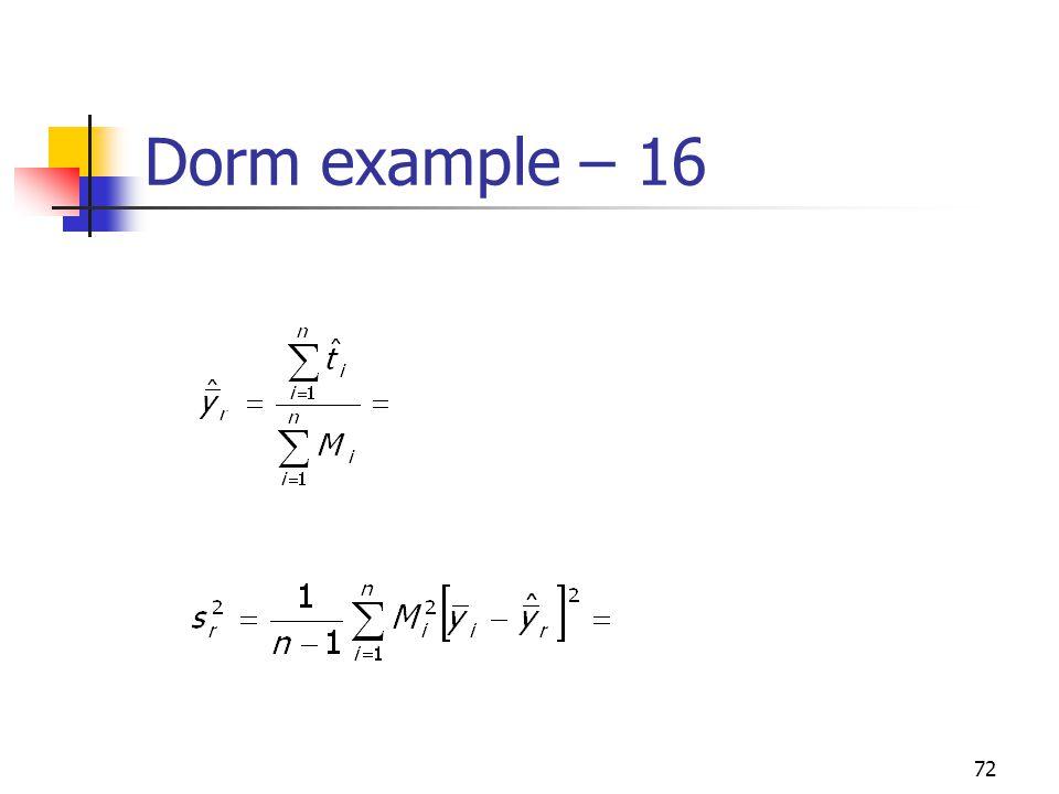 Dorm example – 16
