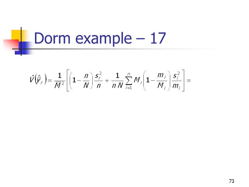 Dorm example – 17