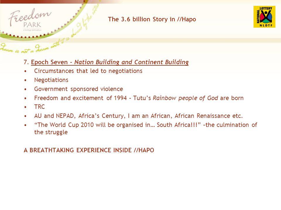 The 3.6 billion Story in //Hapo