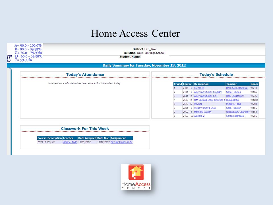 Home Access Center Do we need to update HAC screens since they have 2012 date.