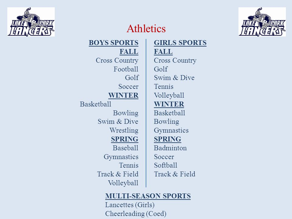 Athletics BOYS SPORTS FALL Cross Country Football Golf Soccer WINTER