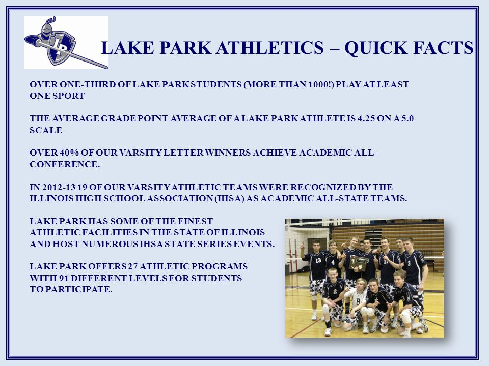 LAKE PARK ATHLETICS – QUICK FACTS