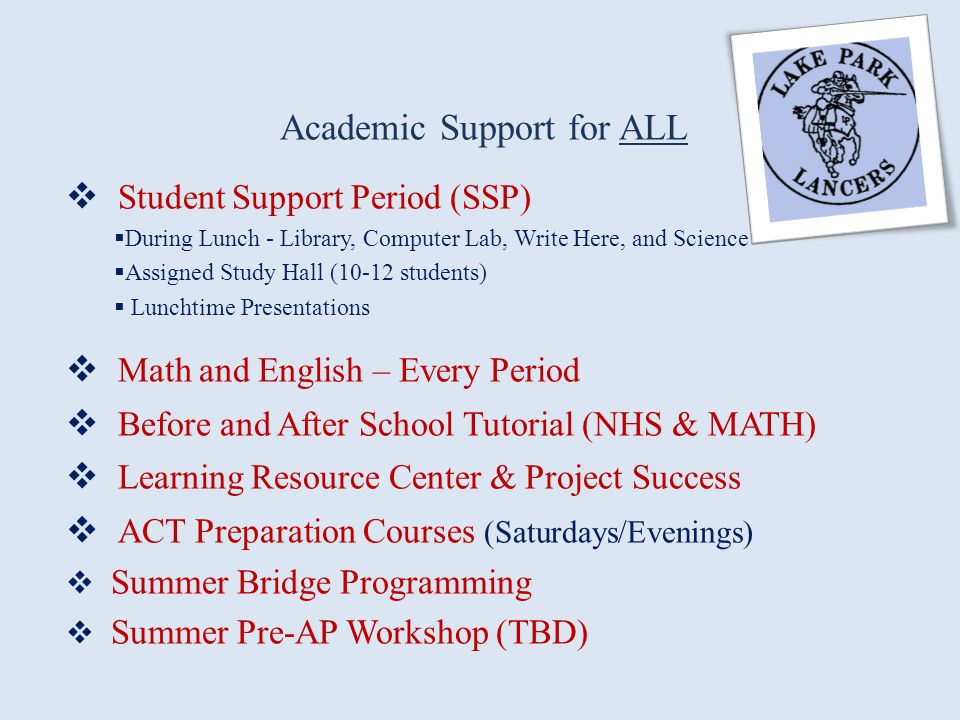Academic Support for ALL